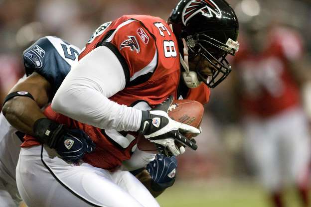 Slide 5 of 65: The Falcons have had worse records than the 4-12 number they posted in 2007. However, it's how they got there that was so miserable. For starters, Michael Vick was indicted on dog fighting charges in the offseason, ending his tenure in Atlanta. Then new head coach Bobby Petrino abruptly quit 13 games into the season. Fortunately, this bad season led to them drafting Matt Ryan. Maybe that's a silver lining. Rex Brown/Getty Images