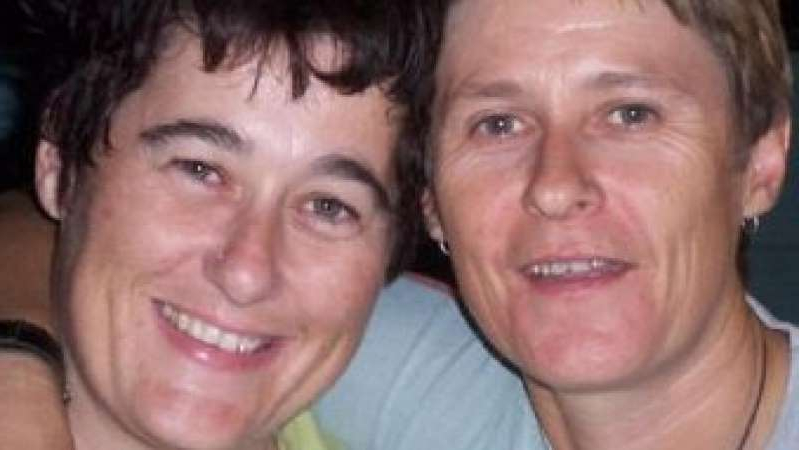a close up of a man smiling for the camera: Claire Hockridge and Tamra McBeath-Riley were last seen at a unit in Alice Springs. (Supplied: NT Police)