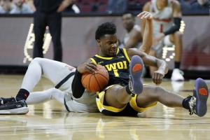 Iowa tops No. 12 Texas Tech 72-61 at Vegas Invitational