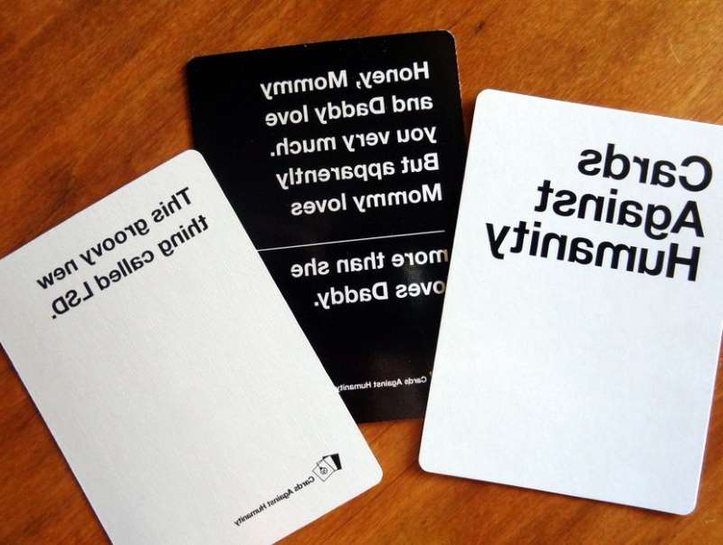 a close up of a card: The holidays got a whole lot weirder thanks to Cards Against Humanity.