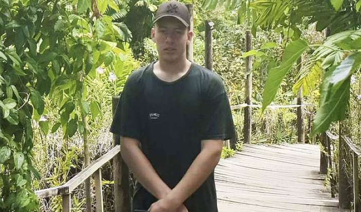 a man standing in a garden: Charlie Scott, 18, from Victoria fell to his death from the balcony of a Gold Coast hotel on Friday morning