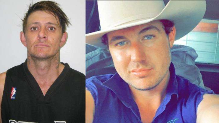 a man wearing a hat: Trent Grose (left) and Matthew Ashcroft are missing in outback Queensland.