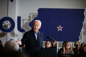 Biden to blitz Iowa back roads by bus in 800-mile hunt for support