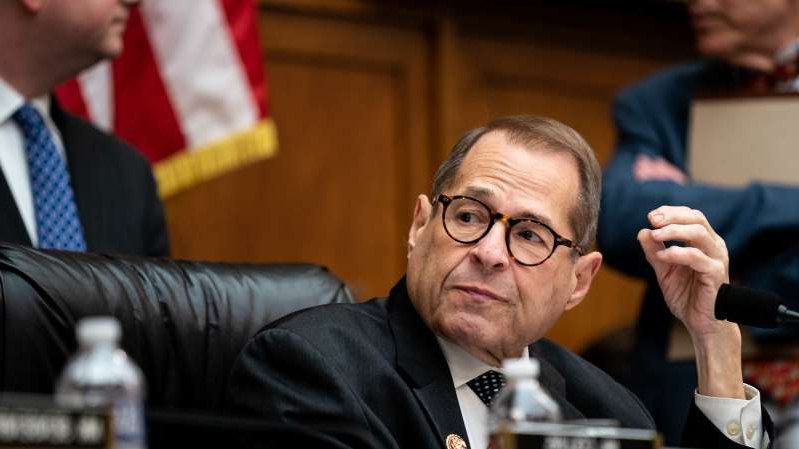 "Jerrold Nadler wearing a suit and tie: Representative Jerrold Nadler, chairman of the Judiciary Committee, wrote that the committee will also consider whether Mr. Trump should be impeached for engaging ""in acts of obstruction of justice."""