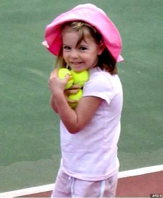 a girl holding a racket on a court: The McCanns have repeatedly said the false accusations against them have harmed the search for Madeleine (pictured)