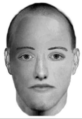 a man looking at the camera: A previously issued suspect's photofit
