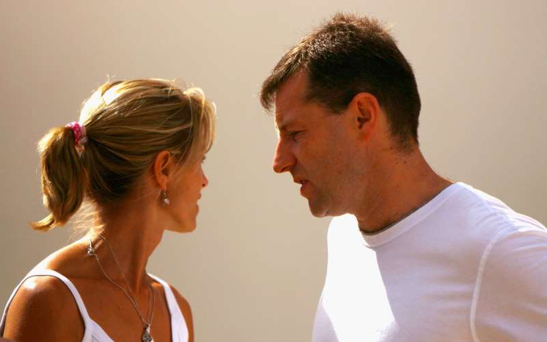 LAGOS, PORTUGAL - AUGUST 15:  Kate and Gerry McCann leave church after attending a service on August 15, 2007 in Praia da Luz, Portugal. It has been 104 days since four-year-old Madeleine disappeared from a room at the family's holiday apartment in the Algarve.  (Photo by Jeff J Mitchell/Getty Images)