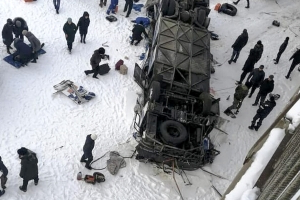 Nineteen people killed in bus crash in Russia's far east -local govt
