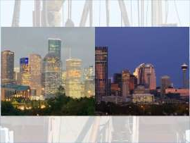 a view of a city: Some Alberta Oil and Gas workers are trading the Calgary skyline for Houston.