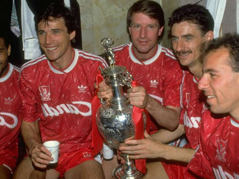 Ian Rush, Ronnie Whelan, Alan Hansen holding glasses of red wine: Liverpool's last league title came in 1990