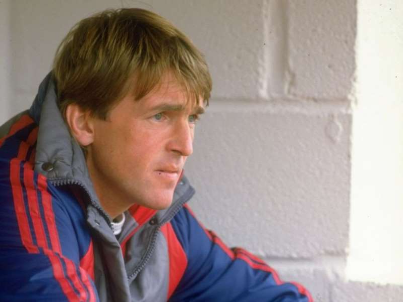Kenny Dalglish wearing a blue shirt: Dalglish suddenly resigned as Liverpool boss in February 1991