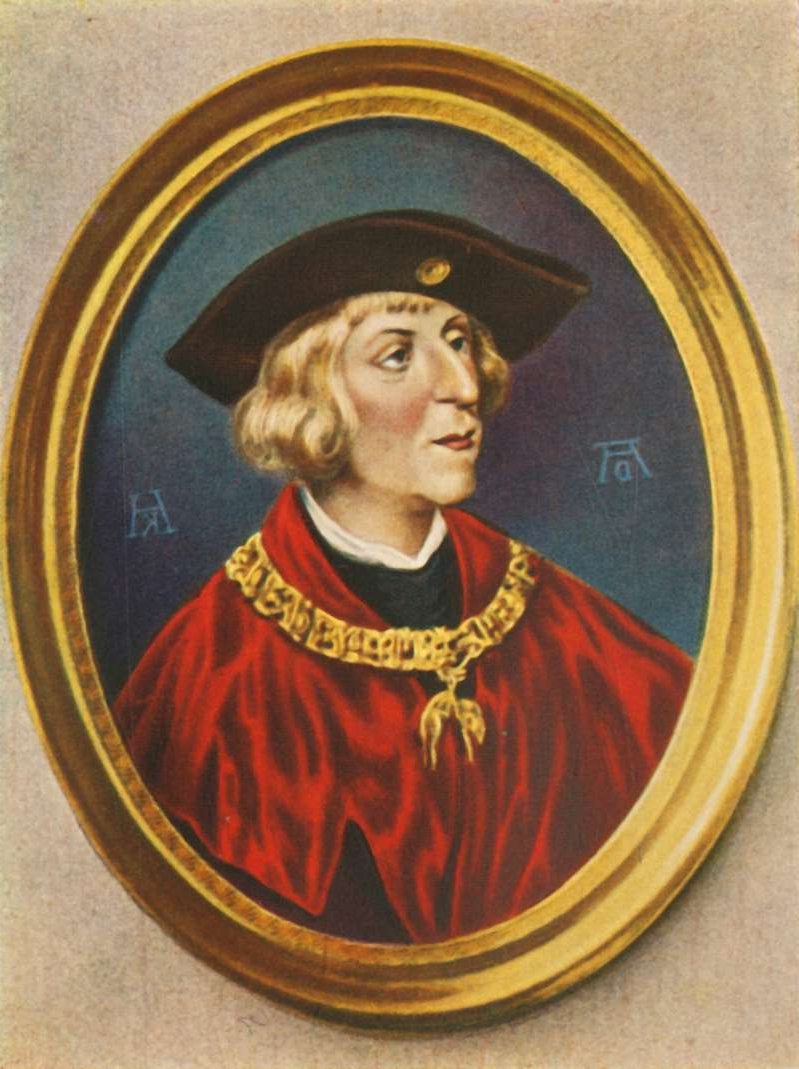 Maximilian I', (1933). Portrait of Maximilian I (1459-1519), Holy Roman Emperor and King of Germany.