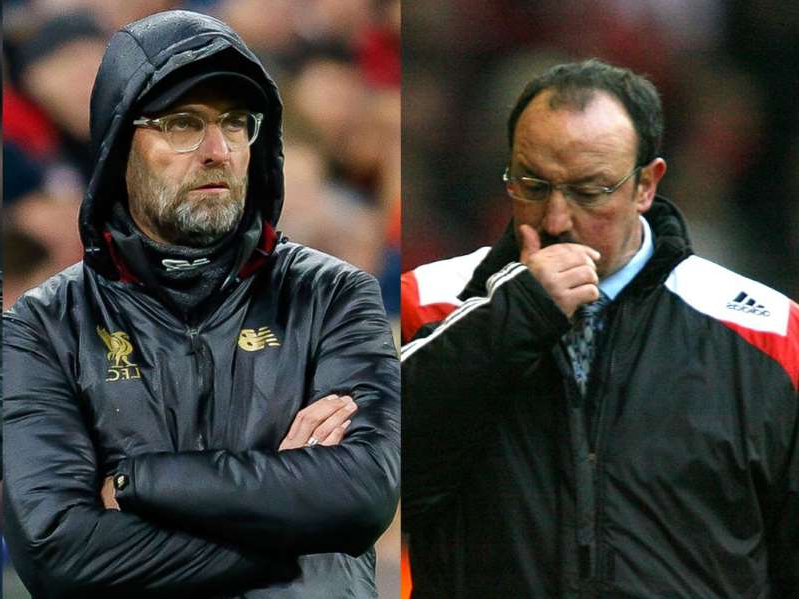 Rafael Benitez, Jurgen Klopp are posing for a picture