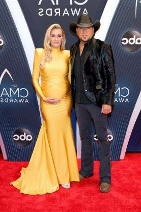 Slide 10 of 173: Country music star Jason Aldean and wife Brittany Kerr became parents again in early February.