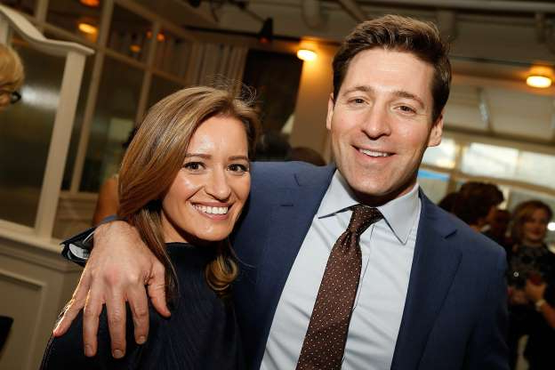 Slide 130 of 173: MSNBC and NBC News correspondent Katy Tur and CBS News correspondent Tony Dokoupil are parents! The couple, who eloped in 2017, Page Six reported, welcomed son Theodore on April 13, Katy's colleague Kasie Hunt announced while filling in for her.