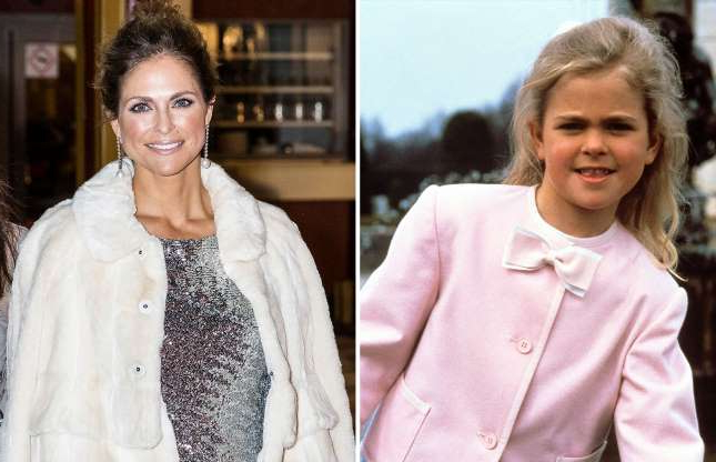 Slide 28 of 41: Princess Madeleine of Sweden arrives at a charity dinner in connection with the World Childhood Foundations 20th anniversary at Tyrol restaurant on February 7, 2019 in Stockholm, Sweden.