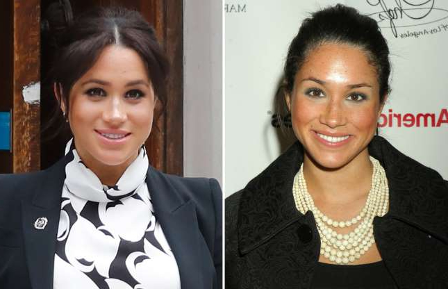 Slide 3 of 41: Meghan Markle during George Lopez/Great Chefs of LA Event For The National Kidney Foundation at The Ritz-Carlton Marina del Rey in Marina del Rey, California, United States. (Photo by Rebecca Sapp/WireImage for Ink PR Group); Britain's Meghan, Duchess of Sussex leaves after participating in a panel discussion convened by the Queen's Commonwealth Trust to mark International Women's Day in London on March 8, 2019. (Photo by Tolga AKMEN / AFP) (Photo credit should read TOLGA AKMEN/AFP/Getty Images)