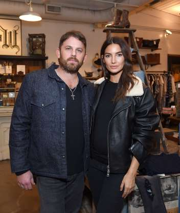 Slide 59 of 173: Victoria's Secret model Lily Aldridge and her husband, Kings of Leon frontman Caleb Followill, welcomed their second child and first son on Jan. 29, she confirmed on Twitter. His name? Winston Roy. He joins big sister Dixie Pearl, 6.