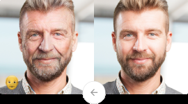a man smiling for the camera: FaceApp uses artificial intelligence to edit your photos to make yourself look old or swap gender.