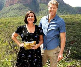Chris Brown, Julia Morris standing in front of a mountain: It's that time of year again when clues for I'm A Celebrity… Get Me Out of Here! are dropping thick and fast. Here's when you can watch the Network Ten reality show.