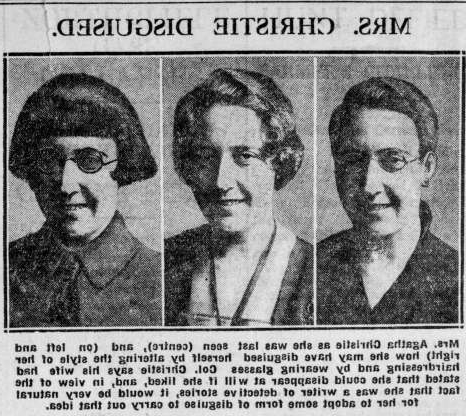 Folie 8 von 35: 11th December 1926:  Photographs in The Daily News of detective writer Agatha Christie (1890 - 1976) showing how she may have disguised herself after her disappearance.  (Photo by Hulton Archive/Getty Images)