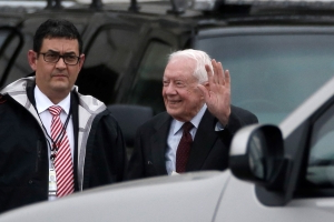 Former U.S. President Jimmy Carter hospitalized in Georgia with urinary tract infection