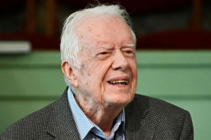 President Jimmy Carter back in hospital, looks forward to 'returning home soon'