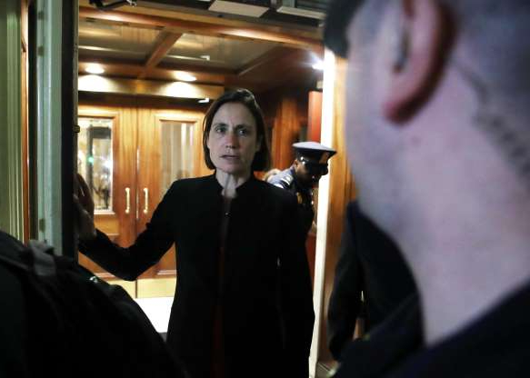 Slide 23 of 74: Fiona Hill, former senior director for European and Russian affairs on the National Security Council, walks out of the U.S. Capitol after a closed door hearing, Oct. 11, 2019 in Washington, DC. Hill is the first former White House official to testify in the House's formal impeachment investigation of President Donald Trump.