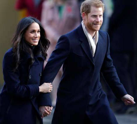 Slide 28 of 36: Britain's Prince Harry and his fiancee Meghan Markle arrive at an event in Nottingham, December 1, 2017. REUTERS/Eddie Keogh