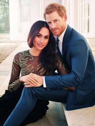 Slide 30 of 36: One of two official engagement photos released Kensington Palace of Prince Harry and Meghan Markle taken by Alexi Lubomirski earlier this week at Frogmore House, Windsor.