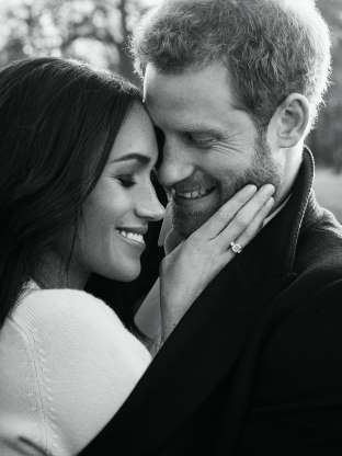 Slide 31 of 36: One of two official engagement photos released Kensington Palace of Prince Harry and Meghan Markle taken by Alexi Lubomirski earlier this week at Frogmore House, Windsor.