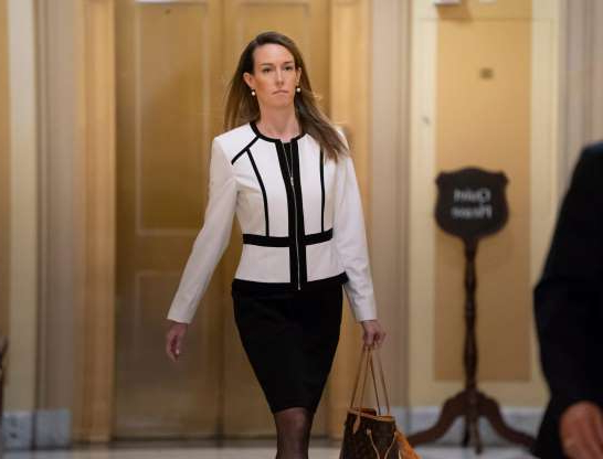 Slide 44 of 74: Jennifer Williams, a special adviser to Vice President Mike Pence for Europe and Russia who is a career Foreign Service officer, arrives for a closed-door interview in the impeachment inquiry on President Donald Trump's efforts to press Ukraine to investigate his political rival, Joe Biden, at the Capitol in Washington, Nov. 7, 2019.