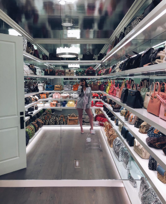 Slide 6 of 21: One of the perks of being a super-rich celebrity is an amazing wardrobe. Kylie Jenner has a closet just for her bags, which she revealed on Instagram in March 2018. The reality TV star owns a wide range of purses from Gucci and Chanel to Louis Vuitton and Birkin. The total worth of all those totes? A cool $452K, ELLE magazine reports.