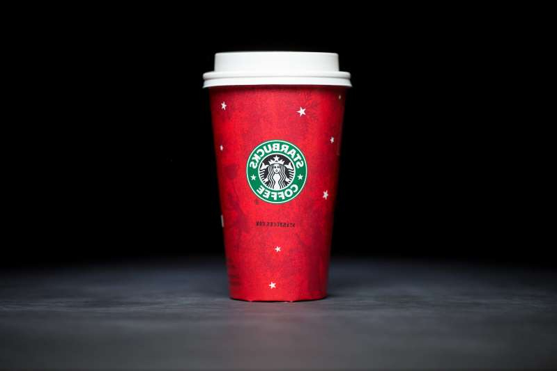 Starbucks 2003 holiday cups.