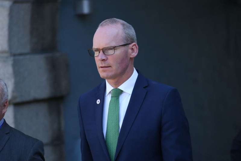 Simon Coveney wearing a suit and tie: Tanaiste Simon Coveney