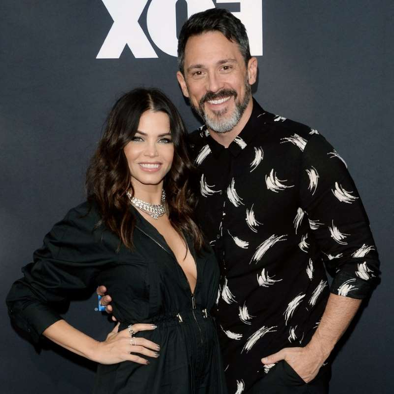 Steve Kazee, Jenna Dewan Tatum posing for the camera: Steve Kazee and Jenna Dewan attend WWE 20th Anniversary Celebration at Staples Center in Los Angeles, CA on October 4, 2019.