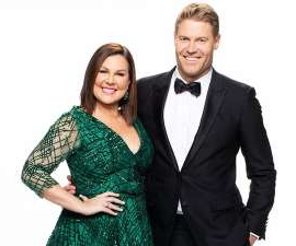 Chris Brown, Julia Morris posing for a photo: I'm a Celebrity... Get Me Out of Here's premiere episode is fast approaching but can you guess who the celebrities entering the jungle are from these clues?