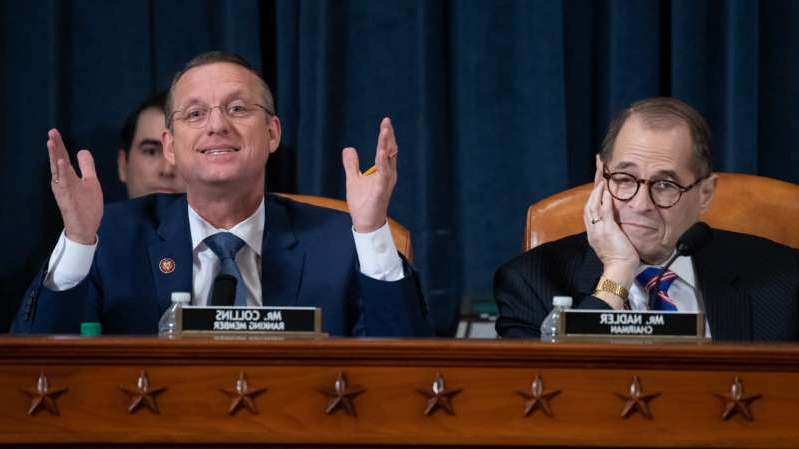 Jerrold Nadler, Doug Collins sitting at a table: Saul Loeb/Getty