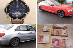 Criminal Assets Bureau carry out five raids in Dublin and Wicklow as part of investigation into suspected member of Albanian gang