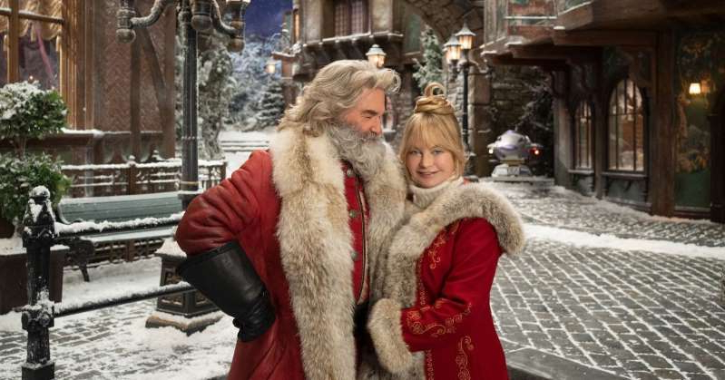 Goldie Hawn standing in front of a building talking on a cell phone: 'The Christmas Chronicles 2' with Kurt Russell, Goldie Hawn set for holiday 2020