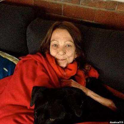 a person sitting on a couch with a dog: Rosslyn Dillon (pictured) alleged she was raped three times in the 1980s by Bill Landeryou, a close friend of Hawke's who died in February