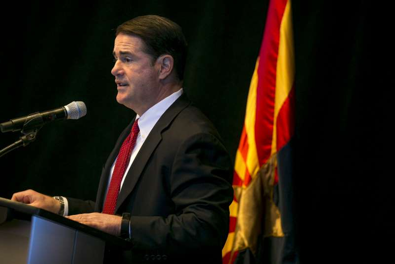 Doug Ducey wearing a suit and tie:  Gov. Doug Ducey