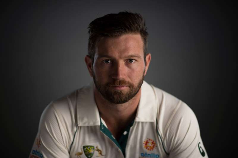 SYDNEY, AUSTRALIA - OCTOBER 03: Michael Neser poses during the Cricket Australia Men's Test Team Headshots Session on October 03, 2019 in Sydney, Australia. (Photo by Matt King - CA/Cricket Australia via Getty Images)