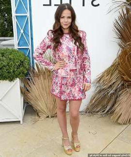 a young girl standing next to Tammin Sursok: 'I'm so inspired by her and what she's experienced': Tammin Sursok (pictured) told Stellar magazine on Sunday that she's set to play inspirational burns survivor Turia Pitt in a biopic