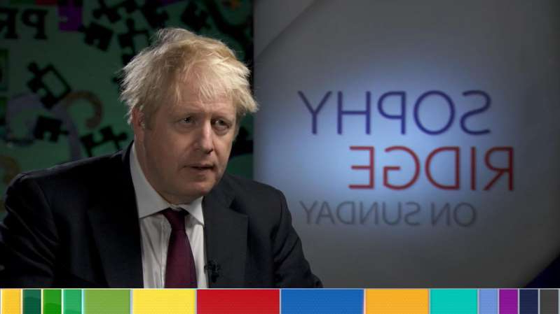 Boris Johnson wearing a suit and tie: Boris Johnson said there would not be checks on the NI border
