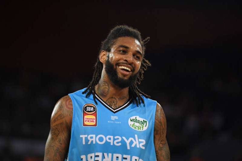 CAIRNS, AUSTRALIA - DECEMBER 06: Glen Rice Jr of the Breakers looks on during the round 10 NBL match between the Cairns Taipans and the New Zealand Breakers at the Cairns Convention Centre on December 06, 2019 in Cairns, Australia. (Photo by Ian Hitchcock/Getty Images)