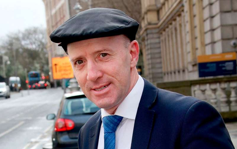 Michael Healy-Rae wearing a suit and tie