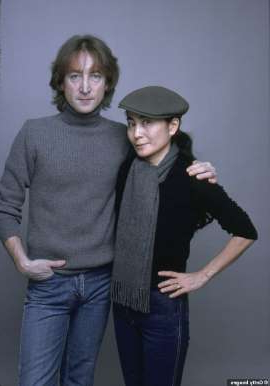 Yoko Ono, John Lennon are posing for a picture: Heartbreaking: John and Yoko were snapped in November of 1980, about a month before his murder