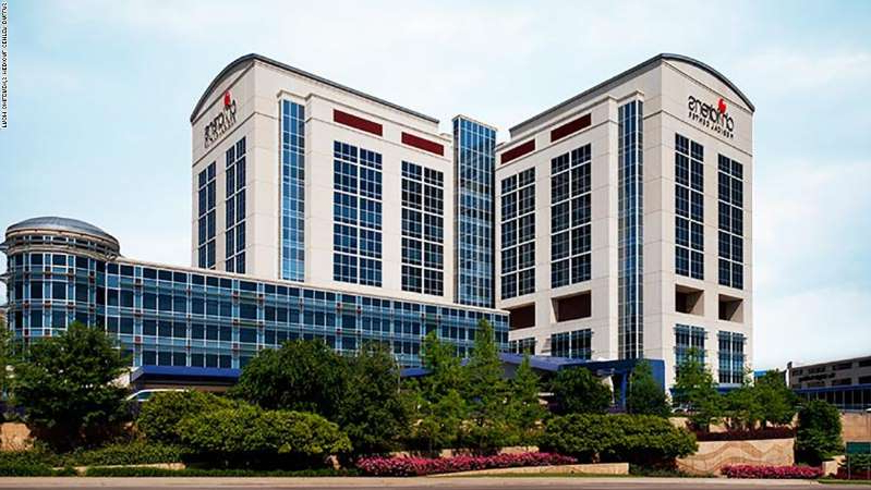 a large white building: An image of Children's Medical Center Dallas taken from their web site.