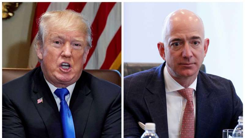 Jeff Bezos, Donald Trump are posing for a picture: Amazon's lawsuit accuses Donald Trump of exerting